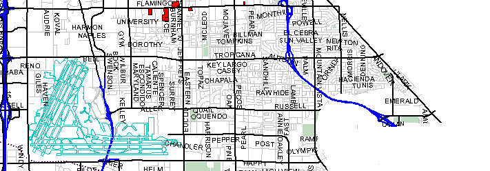 East Las Vegas MLS Map Of Area East Central MLS - Area code 302 map