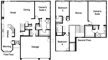two master bedroom floorplan