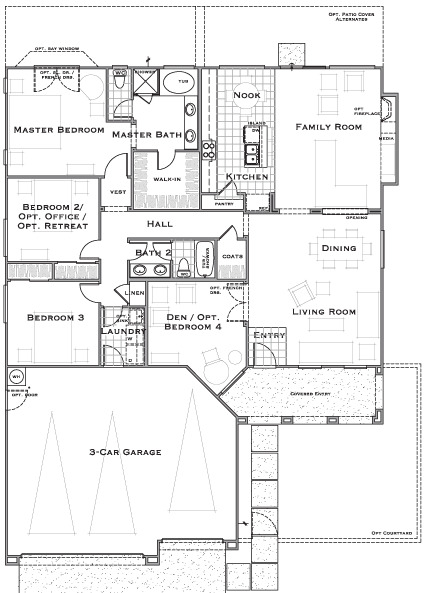 one story floorplan