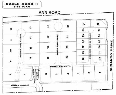 Sable Oaks map