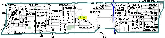 Las Vegas zip code 89104 map