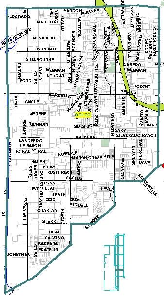 Las Vegas zip code 89123 map